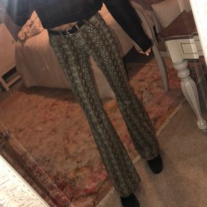 Urban outfitters high rise snakeskin flare jeans